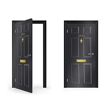DoorWrap: 221B Baker Street Sherlock Holmes Vinyl Sticker for Door