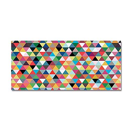 YDyun Tappeto Salotto Moderno Soggiorno Moderno Astratto Tappetini Colorati con Motivi Geometrici Antiscivolo
