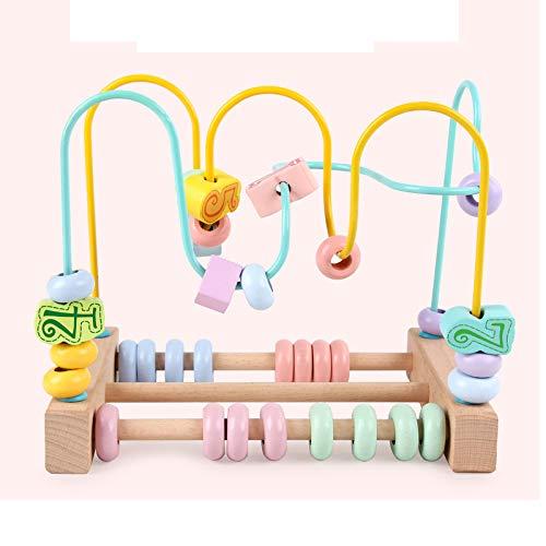 MONODY Circuits de Motricité Cube Activite pour Bébé Nombre Jouet Perle Cube en Bois Enfant Perle Labyrinthe pour Enfants 3 Ans et Plus