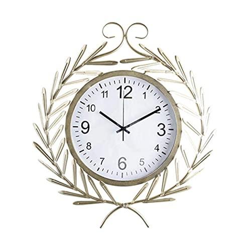 DNGDD Reloj de jardín, Reloj de Pared para jardín al Aire Libre Silencioso Sin tictac Pared al Aire Libre Adorno de jardín Impermeable Fácil de Leer