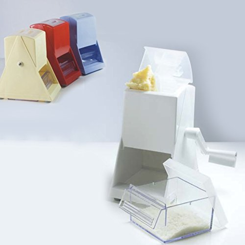 Questo articolo grattugia finemente il parmigiano ed il pane. È dotato inoltre di un pratico cassettino con coperchio per servire il formaggio direttamente in tavola o per conservarlo in frigorifero. Dimensioni : H 20cm- L 9cm- P 10cm Vari colori dis...