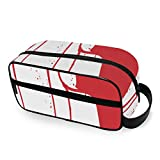 Blood Gun Travel Toiletries with Zippers Travel Bags Carry-on Travel Accessories Travel Bags for Toiletries for Men and Women Toiletries Bag for Toiletries Accessories