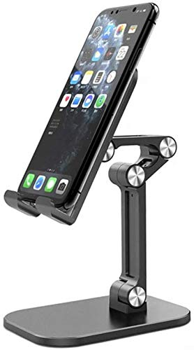 JEALNBONL Cell Phone Stand, Angle Height Adjustable Fully Foldable Compatible with Phone 11 Pro Xs Xs Max Xr X 8, iPad Mini, Tablets (7-10'), All Phones