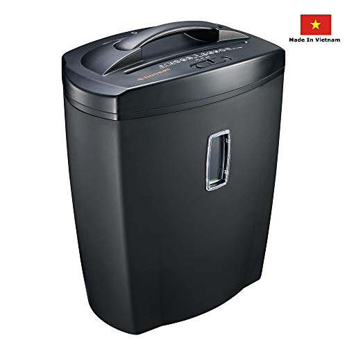 Bonsaii DocShred 8-Sheet High-Serurity Micro-Cut Paper/CD/Credit Card Shredder with Large 5.5 Gallon Wastebasket Capacity and Transparent Window (C156-C)