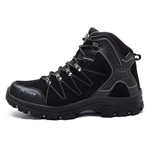 TYUU wandelschoenen, outdoor, crossschoenen, duurzaam, comfortabel, slip, goede hechting, ideaal voor trektochten en wandelingen, zwart