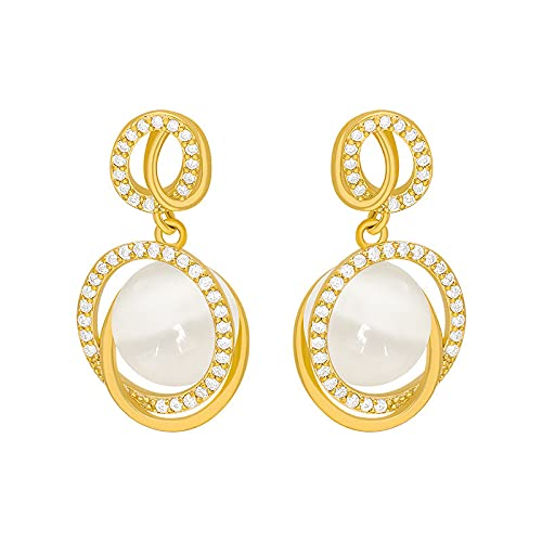 YULINGSTYLE Pendientes Mujeres S925 Sterling Silver Aguja Tridimensional Cat Pendientes Ojo Mujer-1