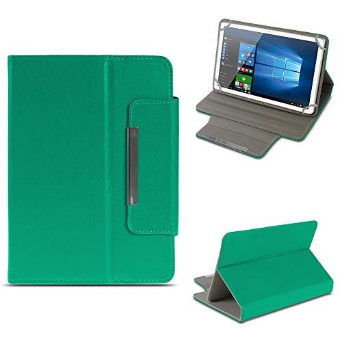 NAUC Archos 101 Platinum 3G Tablet Tasche Hülle Schutzhülle Case Cover Stand Etui Bag, Farben:Grün