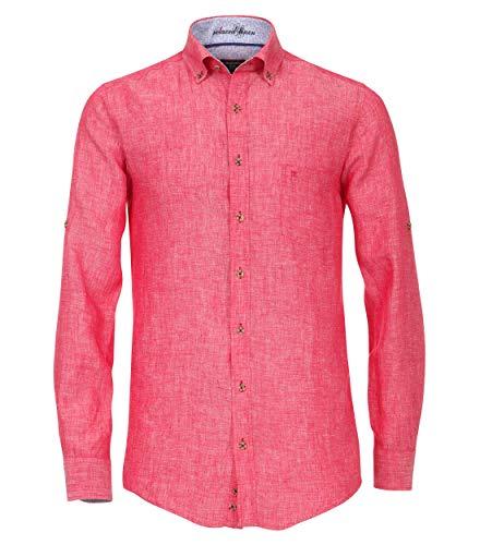 Camada Uninah Casual Fit Chemise en lin pour homme - Rouge - XX-Large