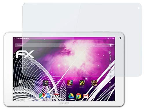 atFolix Glasfolie kompatibel mit Archos 101 Platinum 3G Panzerfolie, 9H Hybrid-Glass FX Schutzpanzer Folie