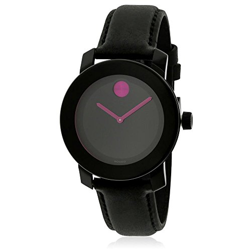 Price comparison product image Movado Bold Black Pink Dial Ladies Women's Watch 3600482