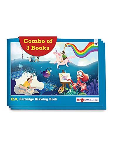 Dibujo para niños | Libros de dibujo de tamaño 2A | 36 páginas blancas en blanco | Hojas de dibujo para dibujar, colorear y pintar | Juego de 3 cuadernos de dibujo