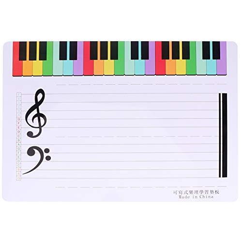 Healifty 2 Stück Trocken Abwischbar Personal Musik Runde Whiteboard Klavierfinger Simulation Übungsanleitung Lehrmittel Notiztabelle für Anfänger Schüler (Weiß)