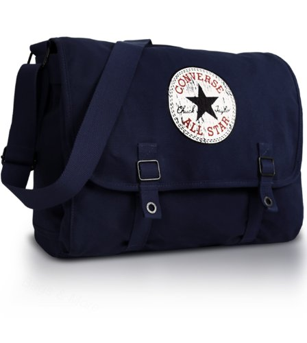 Converse Shoulder Bag Vintage Patch Canvas, dark blue, 15.96 liter, 98306A-18