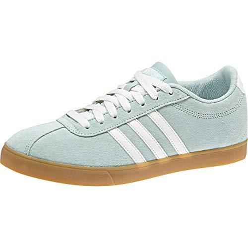 adidas Courtset, Zapatillas de Tenis Mujer, Verde (Ashgrn/Clowhi/Ashgrn), 40 2/3 EU