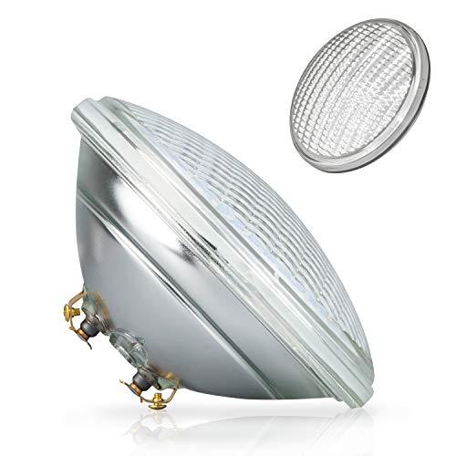 POPP®Nueva Bombilla LED Sumergible PAR56 decorativa piscina IP68 Vidrio RGB 18W 36W Blanco (Blanco Fria 6000k, 18 Watios)
