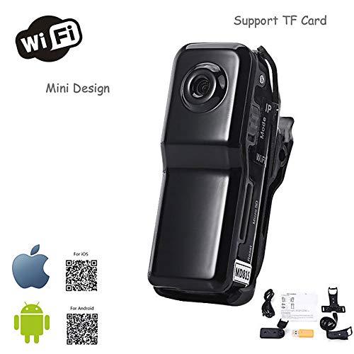 FJROnline WiFi inalámbrico Mini cámara cámara Oculta HD portátil cámara inalámbrica grabadora vigilancia de Seguridad para el hogar (A)