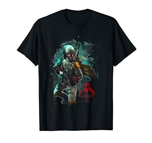 Star Wars Boba Fett Grunge Profile Graphic T-Shirt