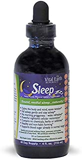 Sleep by Vital Earth Minerals - 4 Fl. Oz. - 40 Day Supply - Vegan Liquid Concentrate Trace Multimineral Supplement - Whole...