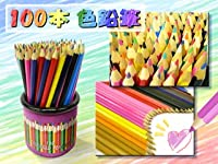 No brand カラフル色鉛筆100本(色鉛筆100本セット・ケース付・お子様に )