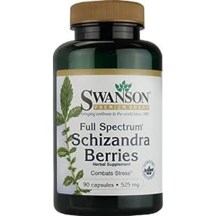 Swanson Full Spectrum Schizandra Berries - 525mg, 90 Capsules:Delocitypvp