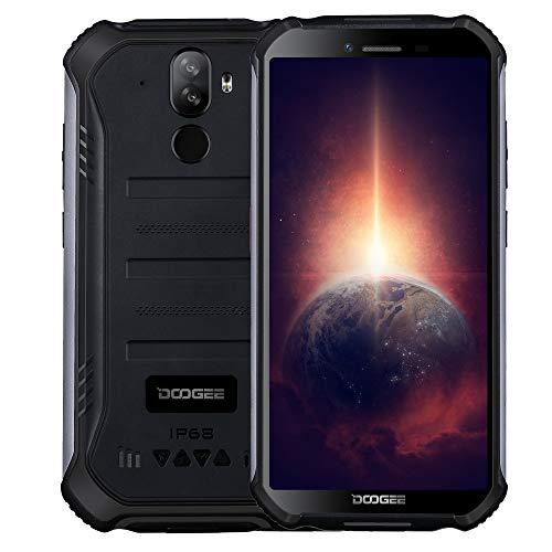 Outdoor Smartphone DOOGEE S40 PRO【4GB RAM 64GB ROM】, Android 10 IP68 Robustes Handy Ohne Vertrag, Helio A25 Octa Core, 5,45'' Gorilla-Glasbildschirm, 13MP Dreifachkamera, NFC-Fingerabdruck Schwarz