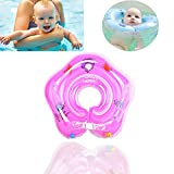 Baby-Schwimmring Dickes PVC-Schwimmtrainer-Badespielzeug FüR Babys Hilft Dem Baby, Mit Umweltfreundlichen Materialien Zu Treten Und Zu Schwimmen (Pink, Upgraded Version)