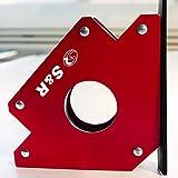 S&R Escuadra Magnética Soldadura I Imán para soldador 45 ° I 90 ° I 135° – 125 mm
