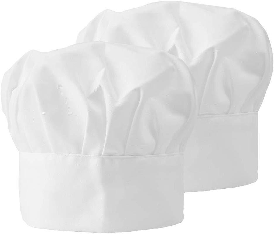 Chef Hat Adjustable Elastic Baker Hats Kitchen Cooking Catering Butcher Hat Mushroom Chef Cap For Women Men Children