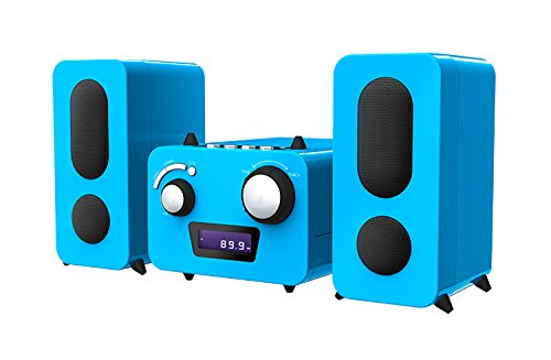 Bigben Interactive MCD11BLUNICORNSTICK Home Audio Micro System Blau Home-Stereoanlage - Home-Stereoanlagen (Heim-Audio-Mikrosystem, Blau, 1 Disks, Oben, FM,PLL, LCD)