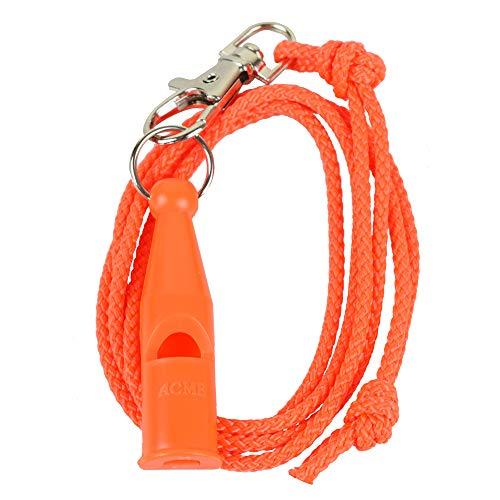 ACME Field Trail Hundepfeife No. 212 + GRATIS Pfeifenband | Original aus England | Laut und weitreichend (orange)