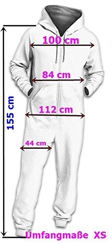 Crazy AgeKscheliger Jumpsuit Sweat Overall Ganzkörperanzug mit Rentier (Navy/weiß) - 6