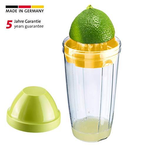 Westmark Mix- und Schüttelbecher, Fassungsvermögen: 500 ml, BPA-freier Kunststoff, Press + Shake, Grün/gelb, 30792270