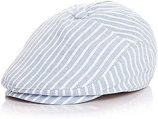 Da.Wa 1Pcs Sombrero de Boina Vaquera Gorra con Visera Casquillo Vintage Sencilla Ocio al Aire Libre Sombrero del Sol Protector Solar para Mujer,Azul Oscuro