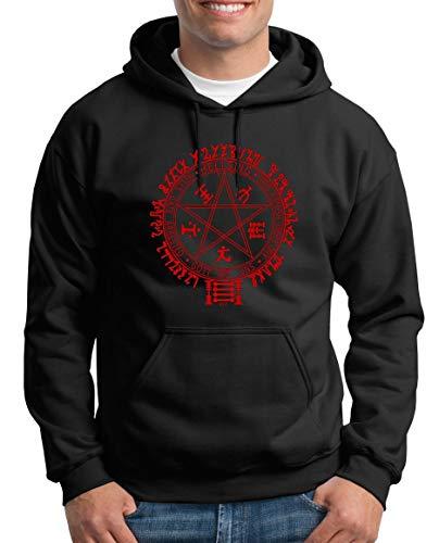 TShirt-People Hellsing Pentagramm Kapuzenpullover Herren XXL Schwarz