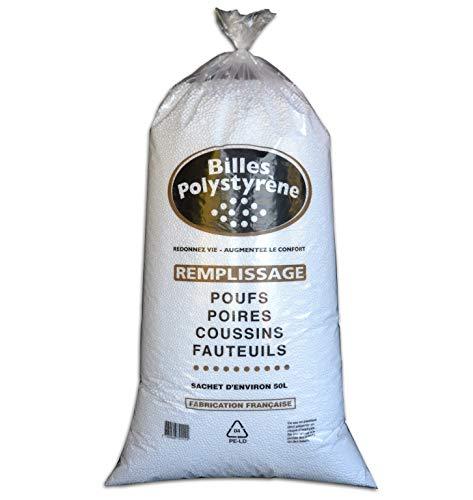 CALINUIT - Sac de billes polystyrène 50L pour remplissage