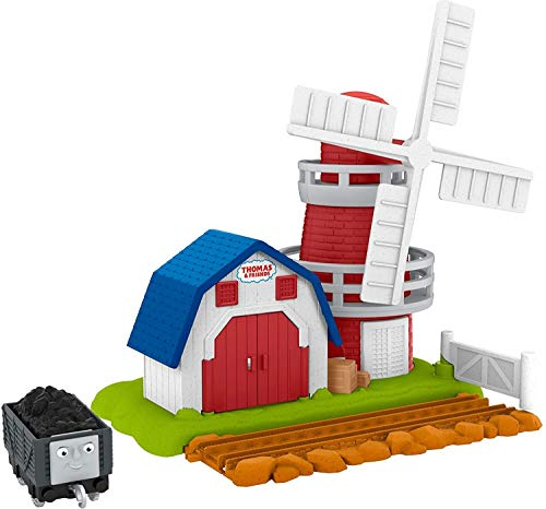 Thomas & Friends Trackmaster, Windmill Destination playset for Preschool Kids Ages 3 Years and Older, GPD89