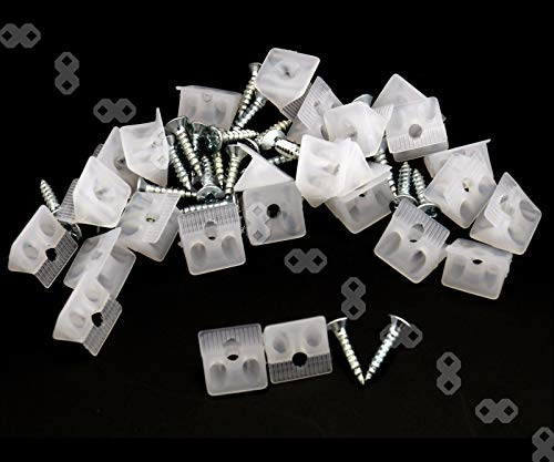 Create Idea 25 Stücke Rückwandverbinder Möbel Brust Schublade Boden Reparatur Befestigung Ausbessern Keile Weiß