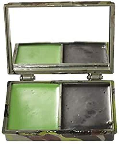 Mil-Tec Camo Face Camo pintura 2 colores con el espejo Woodland