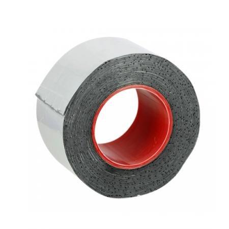 Alu- Butyl-Klebeband, 50mm x 10m - Aluminiumklebeband für Metalle, Kunststoffe, Ziegelwerk, Beton und Holz