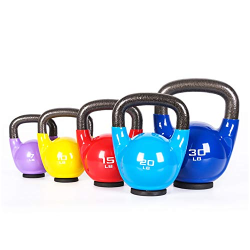 Kettlebell with Durable Coated Material, Home Training and Gym Fitness, Heavy Lifting Weights, Include 5, 7, 10, 15, 25, 30, 35, 40, 45 LBS (45)