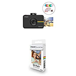 Polaroid Snap Touch 2.0 - Cámara Digital portátil instantánea, Negro + Paquete de 50 Hojas