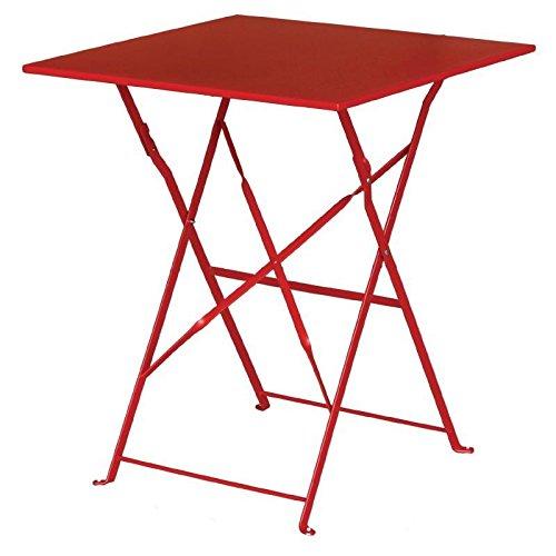 Bolero Table en acier gk986 Trottoir, Style, rouge