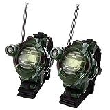 Juguetes Educativos para Niños 2Pcs Toy Walkie Talkies Relojes Walkie Talkie 7 En 1 Reloj para Niños Radio Interfono Al...