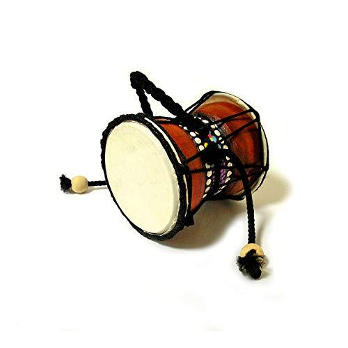 アジア 楽器 でんでん太鼓 ジャンベ ドット ペイント 小太鼓 打楽器 アジアン バリ タイ エスニック 民族 ドラム 雑貨