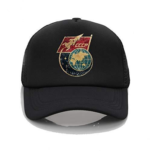 Baseball Kappe UniMesh Mütze Vintage Yuri Gagarin Logo Gedruckte Baseballkappe Freizeit Retro Sommer Hip Hop Hut