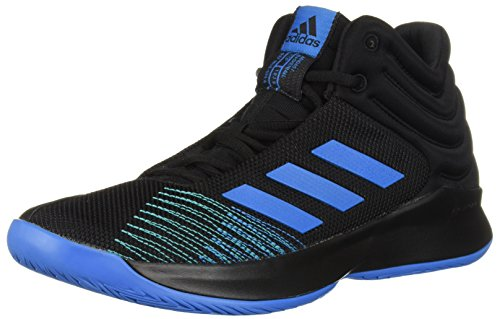adidas Men's Pro Spark 2018 Basketball Shoe, Bright Blue/Black, 14 M US