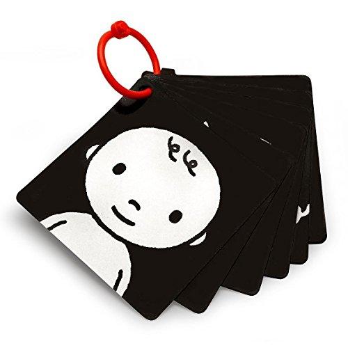 Genius Baby Toys Black, White & Red Infant-Stim Clip Along High Contrast Stroller Flash Cards