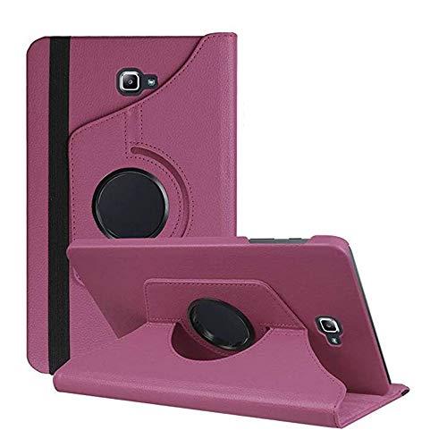 DETUOSI Funda Compatible con Tablet Galaxy Tab A6 10.1, Fundas Cubierta de PU Cuero Protectora Carcasa con Stand Función para Galaxy Tab A 10.1' SM-T580N/T585N-Púrpura