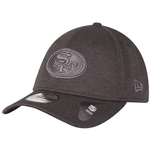 New Era 39Thirty Cap - SHADOW TECH San Francisco 49ers gráfico, Infantil Unisex, gris oscuro, M-L