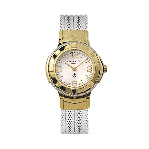 Charriol Women's Celtic Stainless Steel Swiss-Quartz Watch with Stainless-Steel Strap, Silver, 12 (Model: CE426Y1640002)